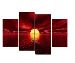 african print home decor canvas prints stretched and framed huge canvas print 4 panels