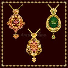 orthodox jewelry orthodox metal gold order vector stock vector illustration of