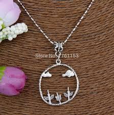 5pcs antique silver trees clouds charm pendants steunk bamboo