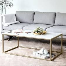 Living Room Coffee Table Furniture Box Frame Coffee Table Marble Antique Bronze O Cool