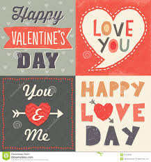 cool valentines cards typographic card set royalty free stock