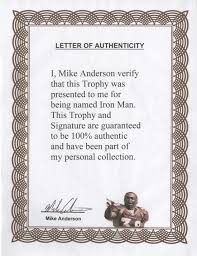 lot detail 2001 mike signed inscribed all iron award