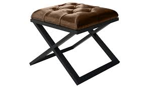 luxury x frame brown leather bench create a unique modern accent
