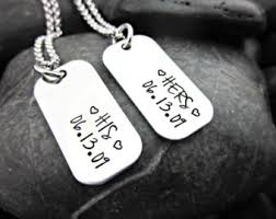 his and hers dog tags one only mini dog tag s style necklace