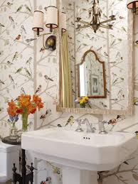 bathroom wallpaper designs our favorite powder rooms hgtv