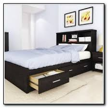 Bed Frame With Drawers Queen Bed Frame Storage Drawers Genwitch