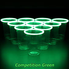 amazon com glowpong glowing game set competition green vs ice