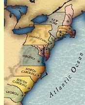 map of colonies from colonies to revolution