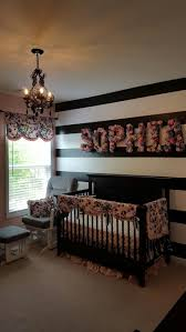 Pink And White Striped Bedroom Walls Vertical Or Horizontal Stripes On Wall Baby Floral Nursery