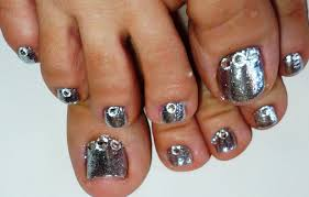 silver toe nail designs choice image nail art designs