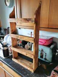kitchen cabinets made out of pallet wood i made this spice rack out of pallet wood finished it with