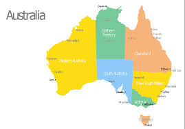 australia map of cities australia map with cities template