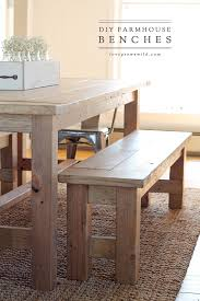 How To Make A Dining Room Table Diy Farmhouse Bench Love Grows Wild
