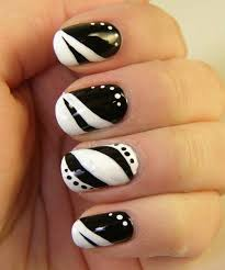 Nail Art Design Black 87 Of The Most Stunning Black And White Nail Art Designs You U0027ve
