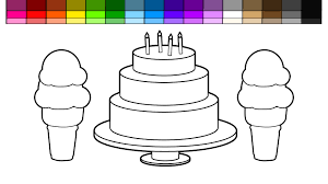 learn colors for kids and color this double ice cream cone rainbow