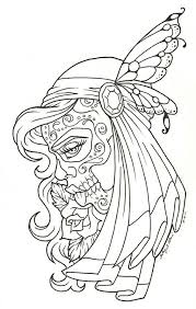 Up Girl Day Of The Dead Coloring Pages Pin Up Coloring Pages