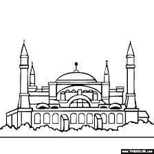 hagia sophia istanbul turkey coloring coloring 2