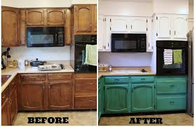 Kitchen Cabinet Door Paint Painted Kitchen Cabinets With Wood Doors Quicua Inside Paint