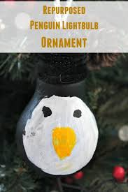 diy repurposed penguin lightbulb ornament moments with mandi