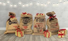 personalised hessian santa sack groupon goods