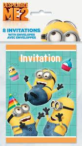free printable minion birthday party invitations ideas template