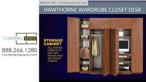 hawthorne wardrobe closet desk instant home office item hawthorne wardrobe closet desk instant home office item 8770 youtube