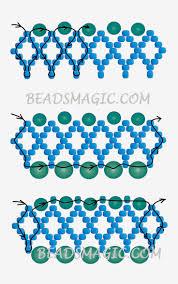 pattern for necklace corner 2 бисер pinterest