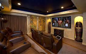 Idea Home by Awesome Small Home Theatre With Cozy Yellow Seating Idea