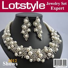 silver pearl necklace set images 50 best my wedding gown necklace images jewerly jpg