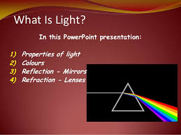 what is light in science science of light