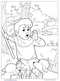 boy cried wolf coloring pages free printable coloring