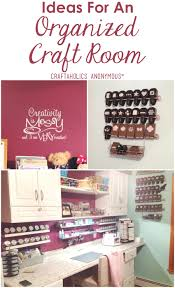 Pink Craft Room - craftaholics anonymous craft room tour with april walters