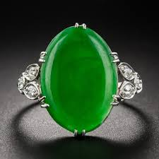 jade ring necklace images Vintage jade platinum diamond ring jpg