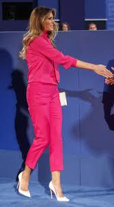 melania trump wears christian louboutin heels at presidential