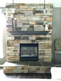 painted stone fireplace pictures surround brick completely freshen
