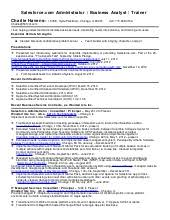 Salesforce Developer Resume Samples by Charlie Havens Salesforce Com Advanced Administrator And Force Com De U2026