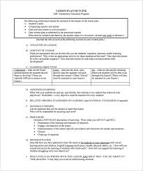 resume objectives exles generalizations in reading lesson plan outline template 10 free free word pdf format