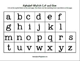alphabet match cut and glue lesson plan of happiness