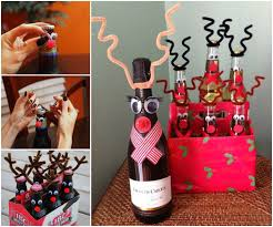 wine bottle christmas ideas wonderful diy reindeer wine bottle for christmas gift
