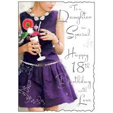 to a daughter so special 18th birthday card karenza paperie