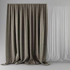 Grey Beige Curtains 3d Model Beige Curtains Cgtrader