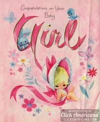 vintage cards congrats on your baby girl vintage cards from 1969 click americana