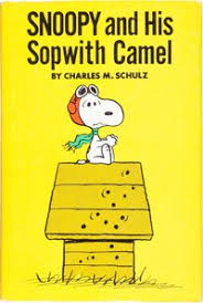 charles schulz snoopy and his sopwith camel hardcover book with