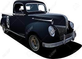 Old Ford Truck Vector - 273 classic pick up cliparts stock vector and royalty free