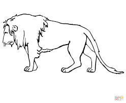 sad lion coloring page free printable coloring pages