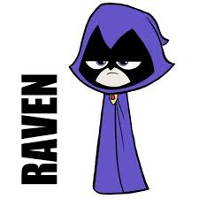 draw raven teen titans easy steps drawing