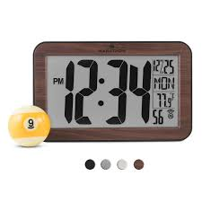 la crosse technology digital wall clock amazon ca home u0026 kitchen