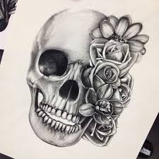 best 25 skull and rose drawing ideas on pinterest scull drawing