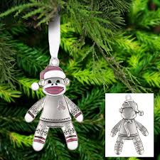 happy sock monkey pink ribbon ornament the breast cancer site