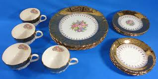 homer laughlin vintage homer laughlin made in usa 22k gold vogue pattern cups saucers
